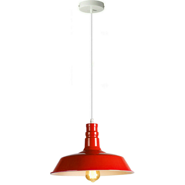 Red Pendant Light Lampshade Ceiling Light Shade With Bulb