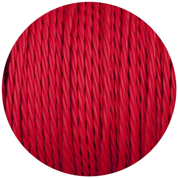 RED 2 CORE Twisted Vintage Fabric cable flex
