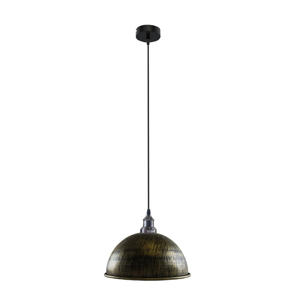 Retro Industrial Ceiling E27 Hanging Pendant Light Shade Brushed Brass