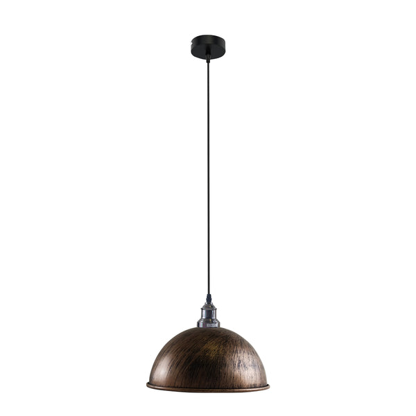 Retro Industrial Ceiling E27 Hanging Pendant Light Shade Brushed Copper
