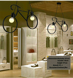 Retro Meta Design Bicycle Ceiling Hanging Pendant Light Shade Modern cycle Lampshade
