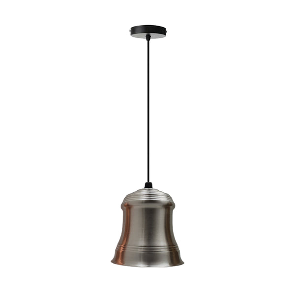 Retro Style Pendant Light Satin Nickel Colours Lamp Shade