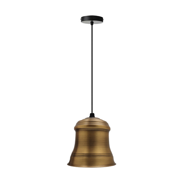 Retro Style Pendant Light Yellow Brass Colours Lamp Shade