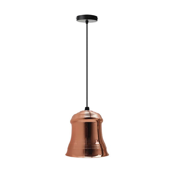 Retro Style Pendant Light  Rose Gold Colours Lamp Shade