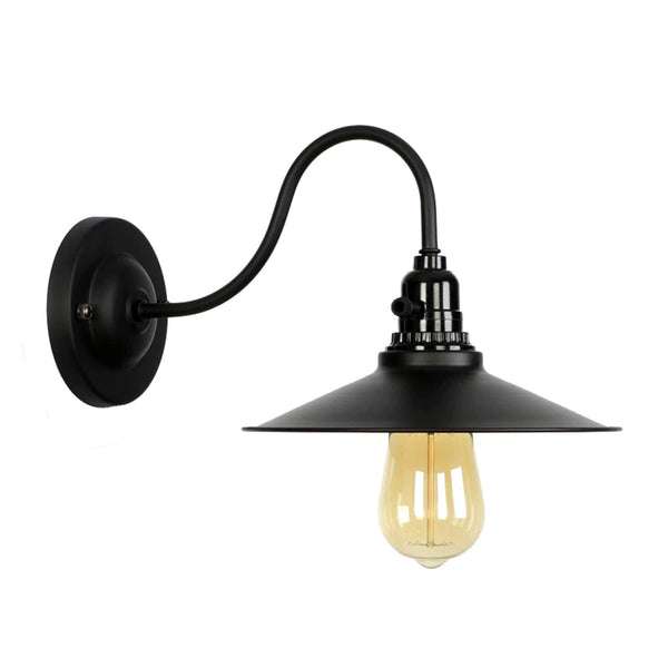Retro Vintage Light Shade Ceiling Lifting Swan Neck Industrial Wall Lamp Fixture