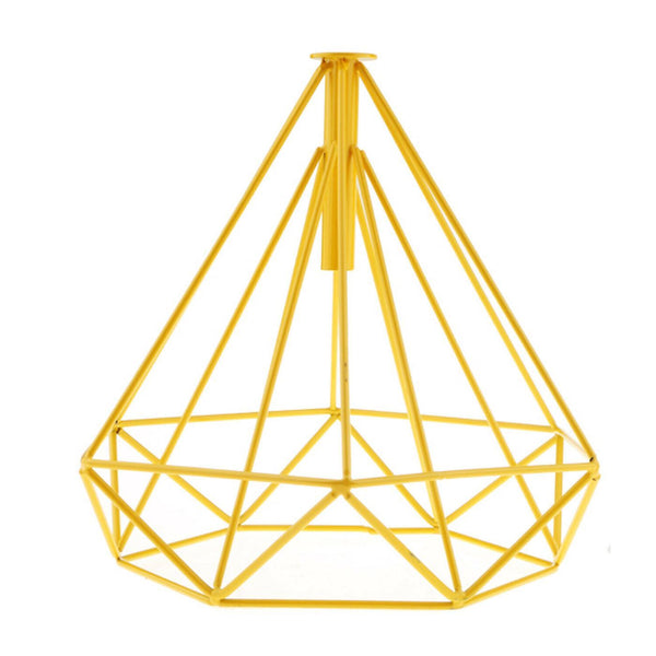 Yellow Geometric Cages Transform Your Ceiling Lights