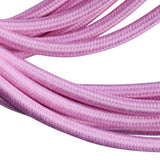 2 core Round Colour braided lighting Fabric Baby Pink Cable - Shop for LED lights - Transformers - Lampshades - Holders | LEDSone UK