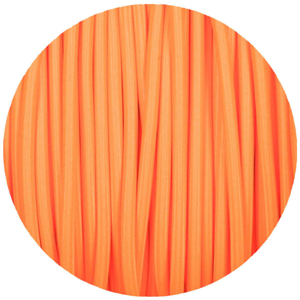 0.75mm 2 core Round Vintage Braided Orange Fabric Covered Light Flex - Shop for LED lights - Transformers - Lampshades - Holders | LEDSone UK