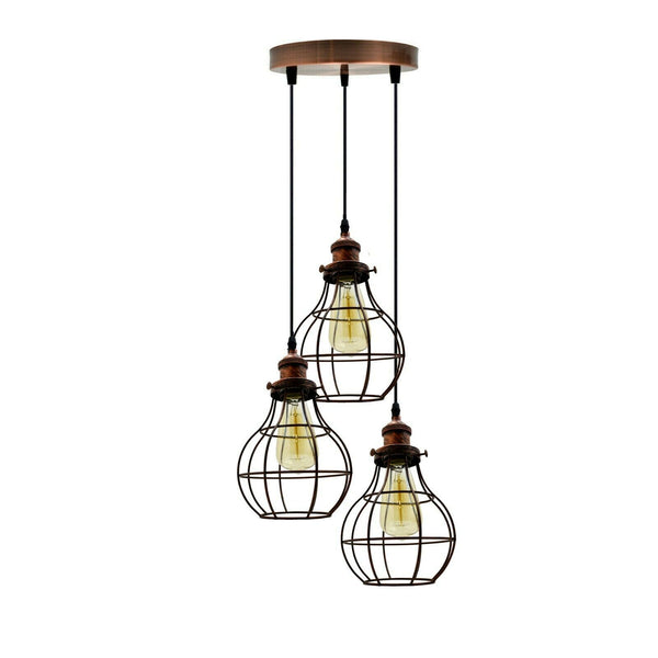 3 Way Ceiling Pendant Cage Cluster Light Fitting - Shop for LED lights - Transformers - Lampshades - Holders | LEDSone UK