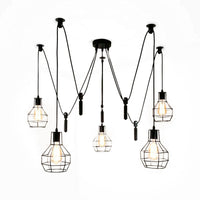 Spider Light Industrial Pendant Light With Five Cage