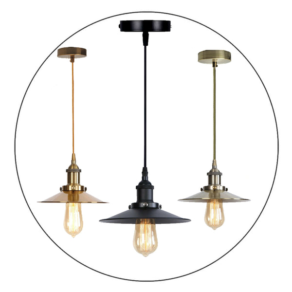Vintage Industrial Metal Ceiling Pendant Light Shade Modern Hanging Retro Light