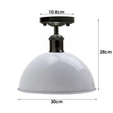 Vintage Industrial Loft Style Metal Ceiling Light Modern White Dome Pendant Lampshade
