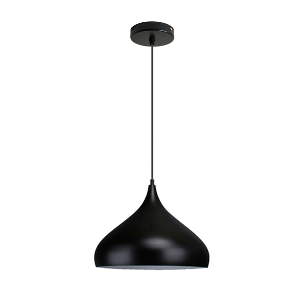 Vintage Industrial Metal Ceiling Black Hanging Pendant Shade