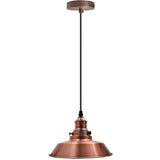 Vintage Industrial Metal Ceiling Pendant Lamp Copper Shade Modern Retro Style