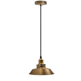 Vintage Industrial Metal Ceiling Pendant Lamp Yellow Brass Shade Modern Retro Style