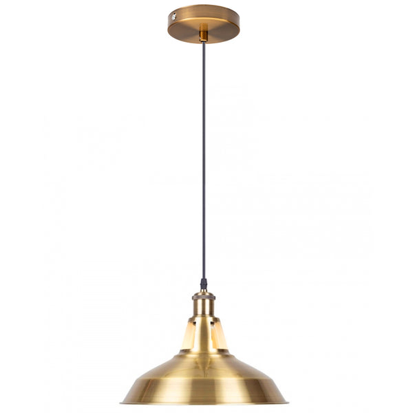 Yellow Brass Industrial Metal Ceiling Pendant Light Shade Modern Hanging Retro Lights