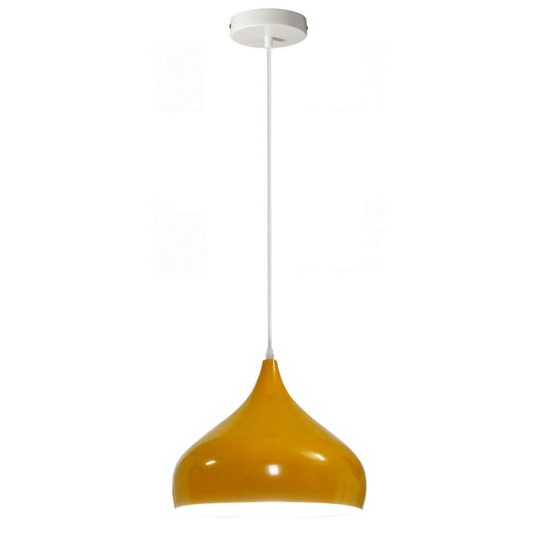 Vintage Industrial Metal Ceiling Yellow Hanging Pendant Shade