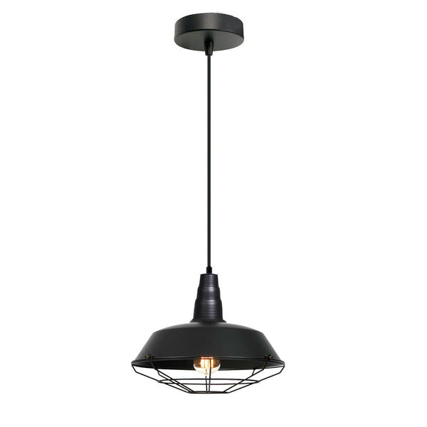 Vintage Modern Style Metal Ceiling Light Pendant Lamp Shades Black