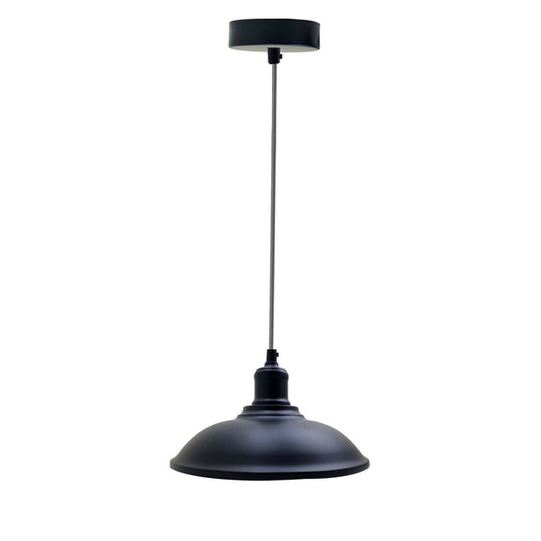 Metal Pendant Light Shade Black Retro Industrial Ceiling Lampshades Lighting Shades
