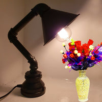 Vintage Retro Industrial Steel Pipe Desk Table Lamp