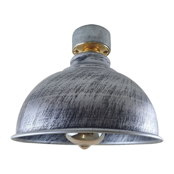 Metal Rustic Style Ceiling Light Lampshade Fitting Brushed B22 Base Light