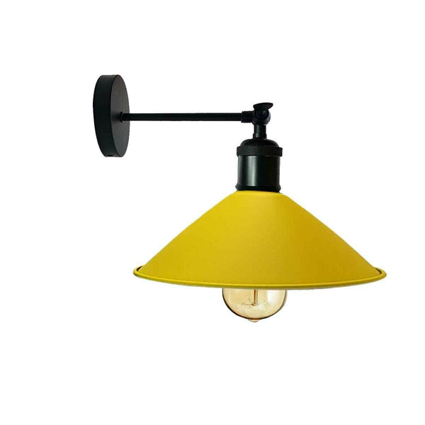 Industrial Yellow Colour Wall Lamp Retro Light Vintage Wall Sconce Lights