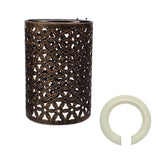 Metal Brushed copper Flower Pattern Vintage Lamp Wire cage