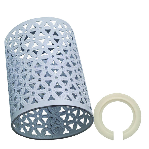 Metal Pattern Vintage Lamp Wire cage White Lamp Light