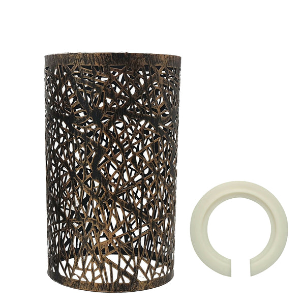 Modern Drum Lampshade Brushed Copper Colour Retro Style