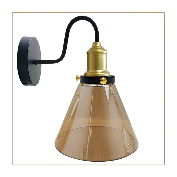 Industrial Wall Lamp Sconce Modern Indoor Glass Shade Wall Light