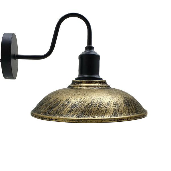 Brushed Brass Metal Wall Lights Industrial Style