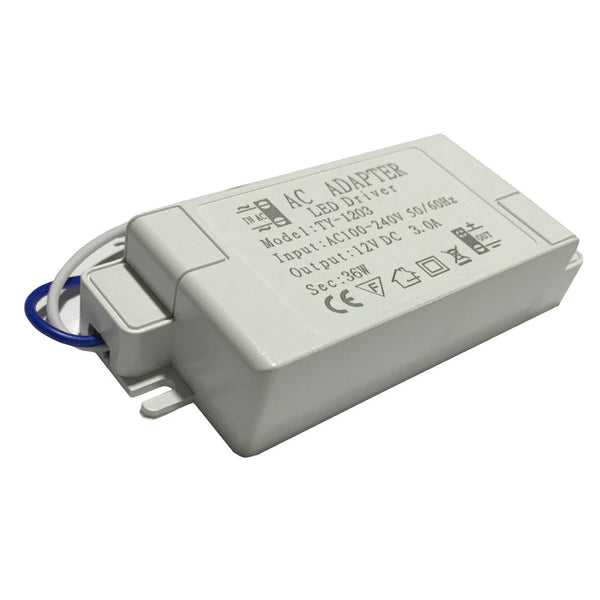 36W Compact LED Driver AC 230V to DC12V Power Supply Transformer - Shop for LED lights - Transformers - Lampshades - Holders | LEDSone UK