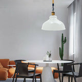 White Metal Ceiling Pendant Shade Modern Hemp Hanging Retro Light