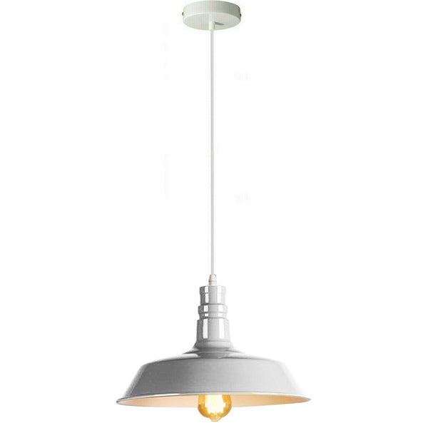 White Pendant Light Lampshade Ceiling Light Shade With Bulb
