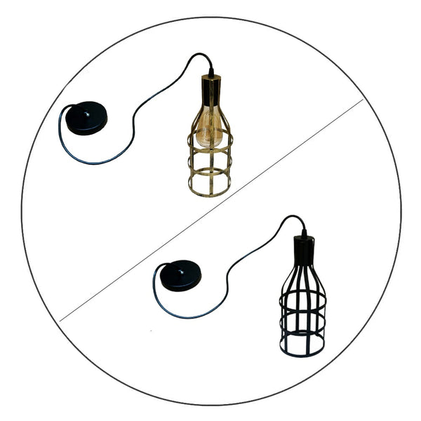 Vintage Wire Cage Industrial Retro Hanging Pendant Lamp Kitchen Ceiling Lighting