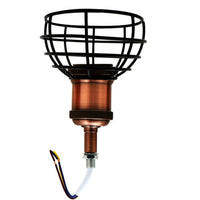 Wooden Base Table Lamp Vintage Filament Light Bulb Bedside Plug in Retro Light