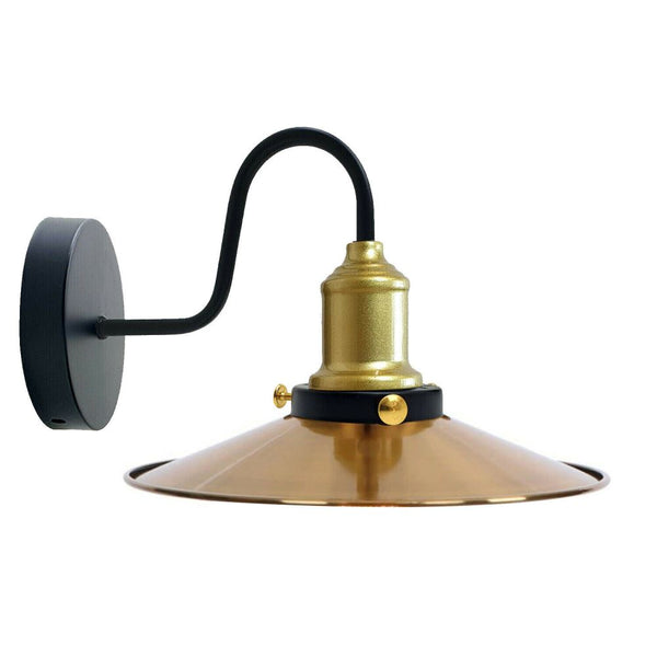 Yellow Brass Wall Light Lampshade Modern Industrial Wall Lamp