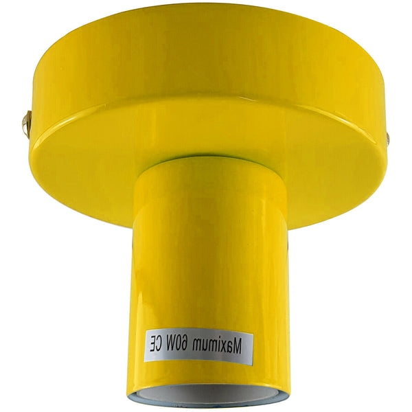 Yellow Flush Mount Ceiling Light Fitting