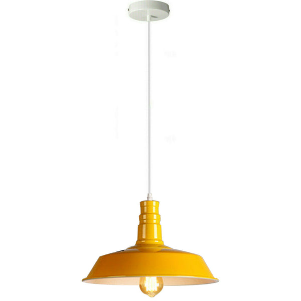 Yellow Pendant Light Lampshade Ceiling Light Shade With Bulb