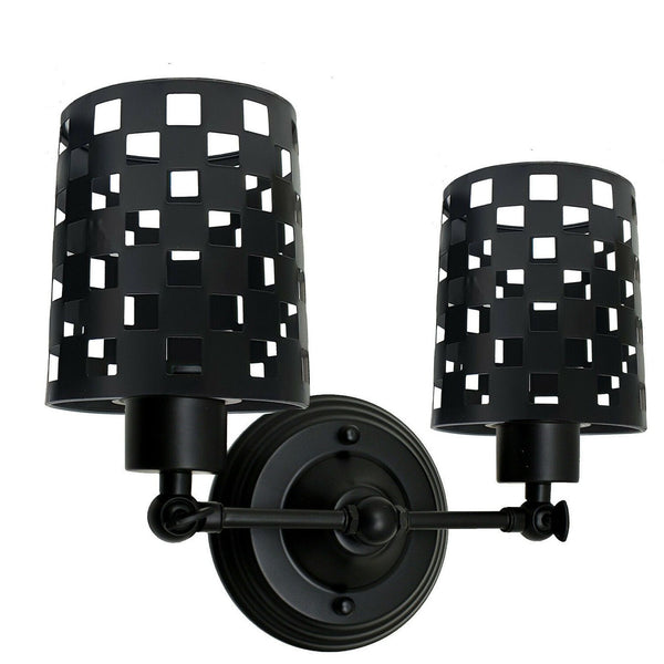 Modern Retro Black Vintage Industrial Wall Mounted Lights Rustic Wall Sconce Shade Lamps Fixture