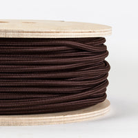 3 core Round Vintage Braided Fabric Dark Brown Cable Flex 0.75mm - Shop for LED lights - Transformers - Lampshades - Holders | LEDSone UK