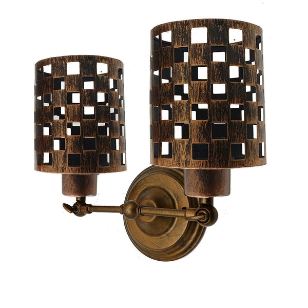 Modern Retro Brushed Copper Vintage Industrial Wall Mounted Lights Rustic Sconce Lamps Fixture
