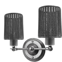 Modern Retro Brushed Silver Vintage Industrial Wall Mounted Lights Rustic Wall Sconce Shade Lamps Fixture