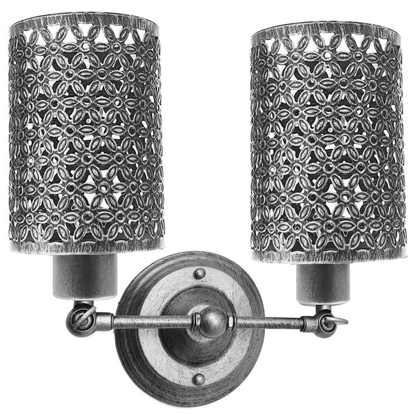 Modern Retro Brushed Silver Vintage Industrial Wall Mounted Lights Rustic Wall Sconce Lamps Fixture
