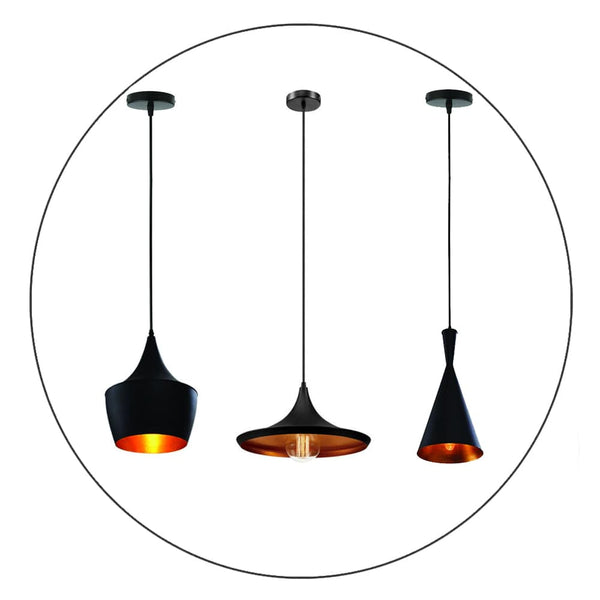 Retro industrial hanging lamp pendant lamp bar lampshade lamp E27 black new