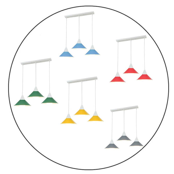3 Head Modern Chandelier Pendant Light Shade Colour Ceiling Pendant Lampshades