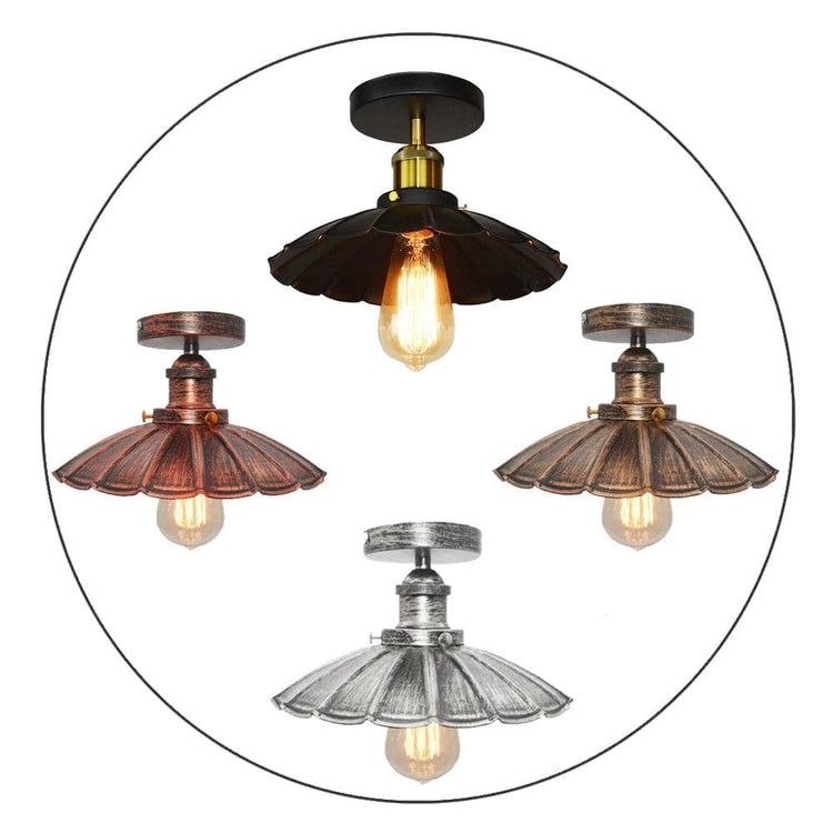 Vintage Retro Industrial Flush Mount Farmhouse Ceiling Light Shade chandelier UK