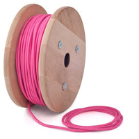 3 core Round Rayon Vintage Braided Fabric Pink Cable Flex 0.75mm - Shop for LED lights - Transformers - Lampshades - Holders | LEDSone UK