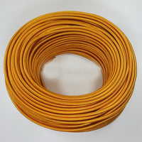 2Core round gold vintage fabric cable
