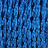 2 Core Twisted Electric Cable Blue color fabric 0.75mm - Shop for LED lights - Transformers - Lampshades - Holders | LEDSone UK